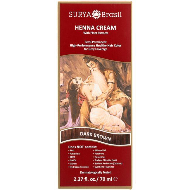 Surya Brasil Henna Cream Semi-Permanent Hair Color - Dark Brown 1 ...