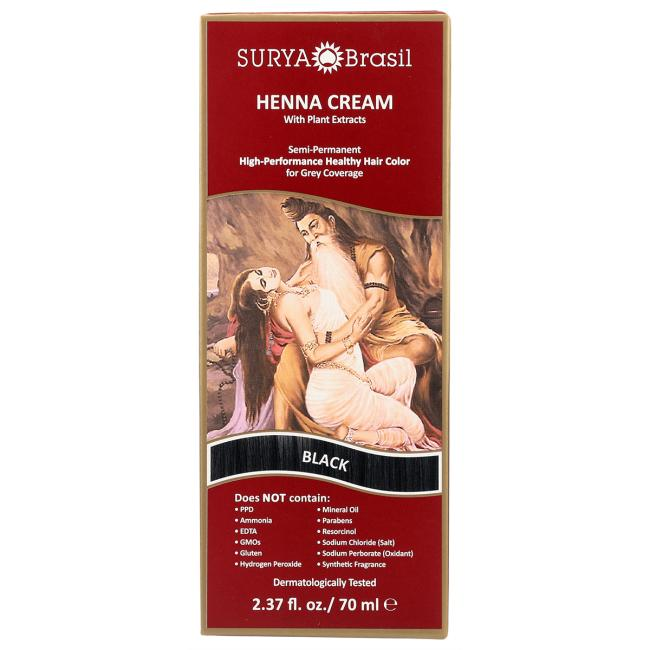 Surya BrasilHenna Cream With Plant Extracts Hair Color - Black