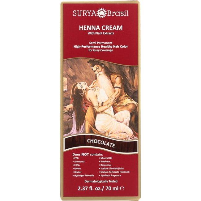 Surya BrasilHenna Cream With Plant Extracts Hair Color - Chocolate