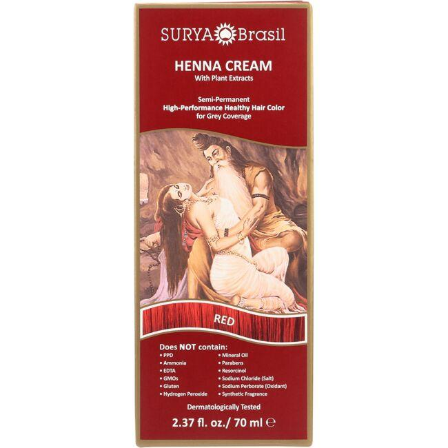 Surya BrasilHenna Cream With Plant Extracts Hair Color - Red