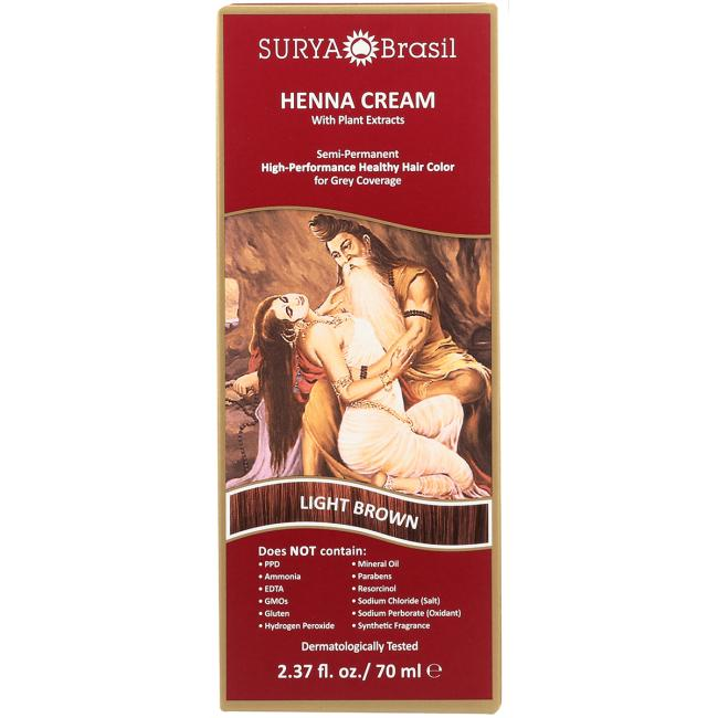 Surya BrasilHenna Cream With Plant Extracts Hair Color - Light Brow