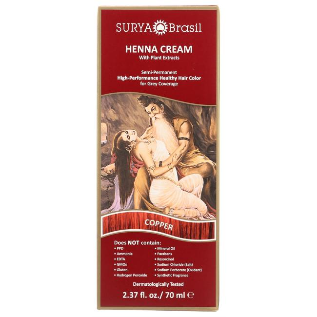 Surya BrasilHenna Cream With Plant Extracts Hair Color - Copper