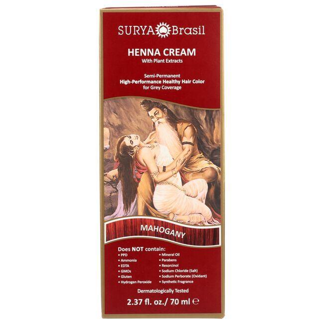 Surya BrasilHenna Cream With Plant Extracts Hair Color - Mahogany