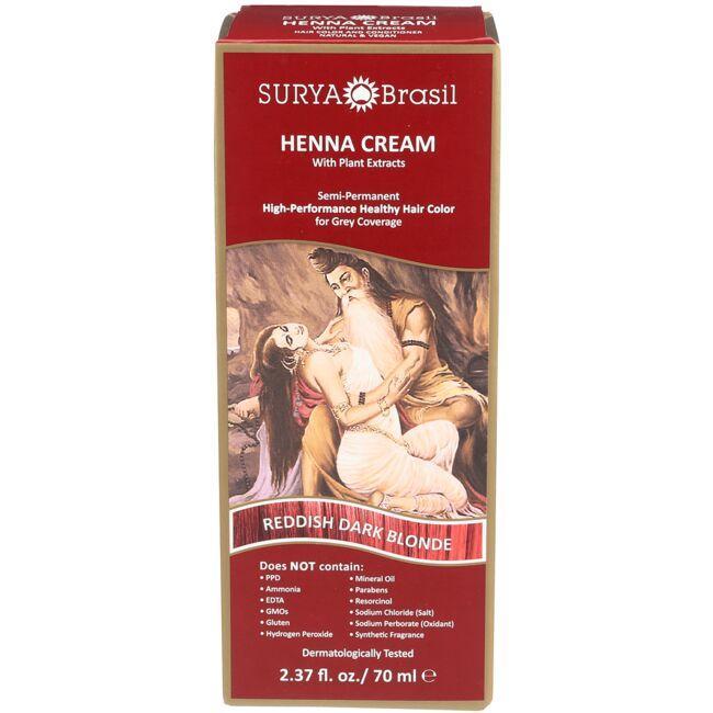 Surya BrasilHenna Cream With Plant Extracts - Reddish Dark Blonde