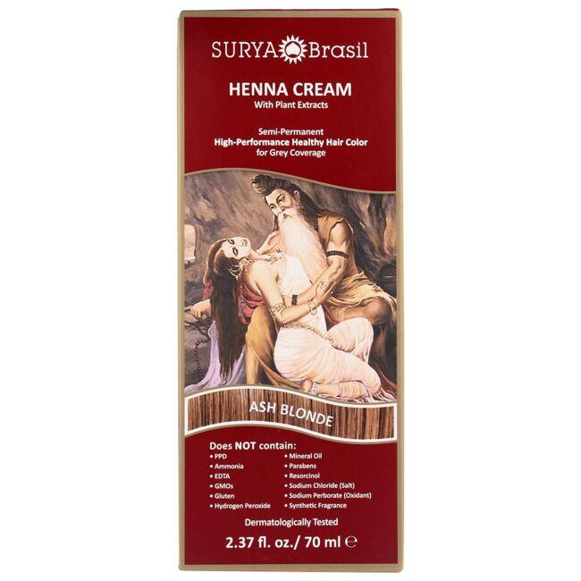 Surya BrasilHenna Cream With Plant Extracts Hair Color - Ash Blonde