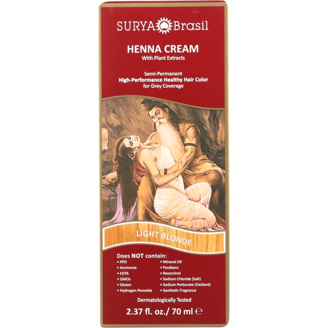 Surya BrasilHenna Cream With Plant Extracts Hair Color - Light Blonde