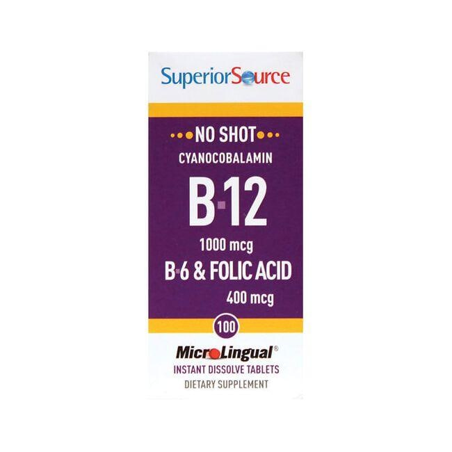 Superior Source B-12 Cyanocobalamin with B-6 & Folic Acid