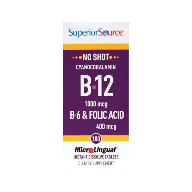 Superior Source B-12 Cyanocobalamin with B-6 & Folic Acid
