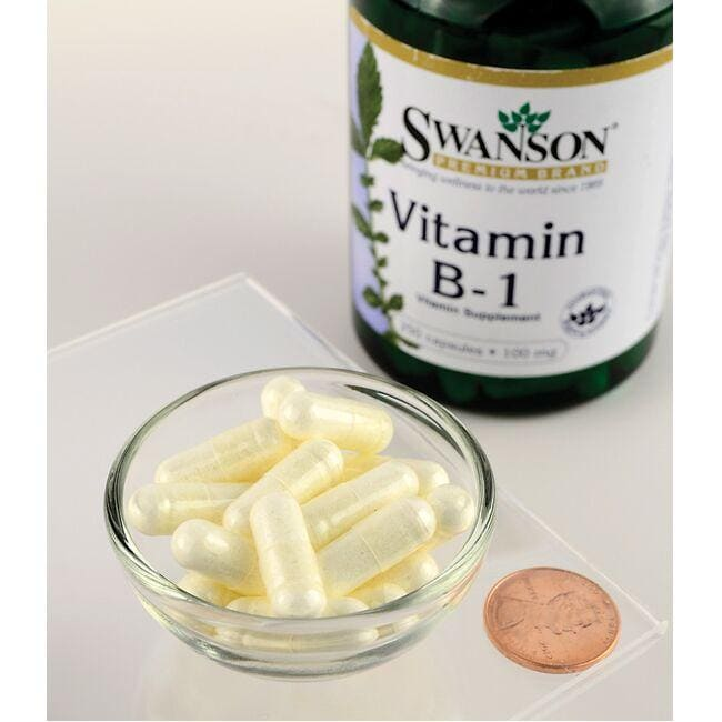 Swanson PremiumVitamin B-1 (Thiamin) Close Up