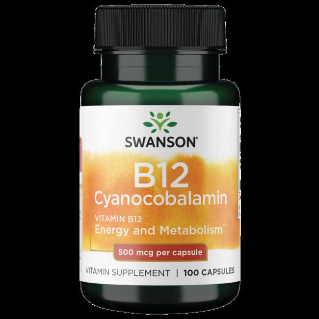Swanson Premium Vitamin B-12 (Cyanocobalamin)