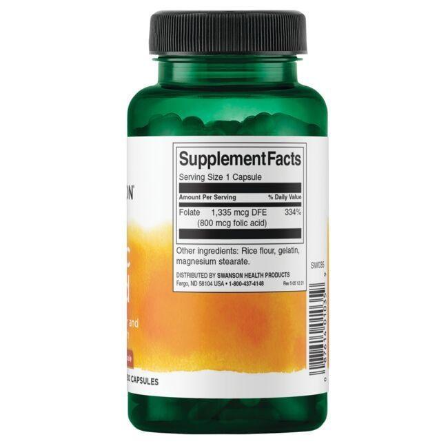 Swanson PremiumFolic Acid Close Up