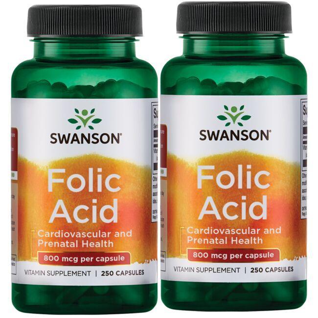Swanson PremiumFolic Acid - 2 Pack