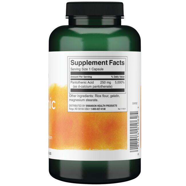 Swanson PremiumPantothenic Acid (Vitamin B-5) Close Up