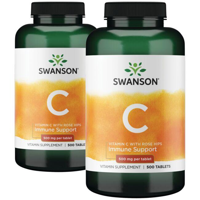 Swanson Premium Vitamin C with Rose Hips