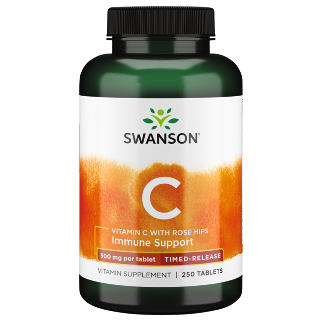 Swanson Premium Timed-Release Vitamin C with Rose Hips
