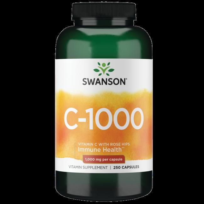 Swanson Premium Vitamin C with Rose Hips