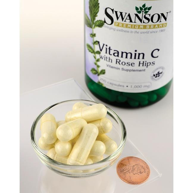 Swanson Premium Vitamin C with Rose Hips Close Up