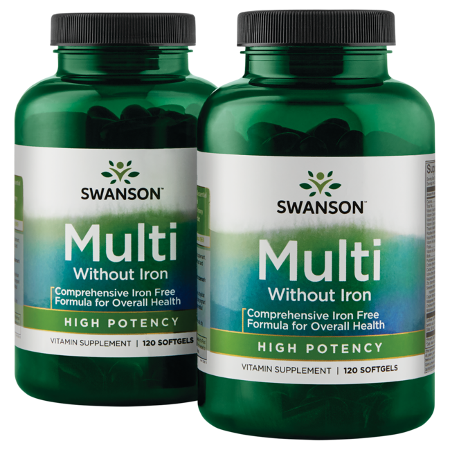 Swanson Premium High Potency Softgel Multi Iron Free
