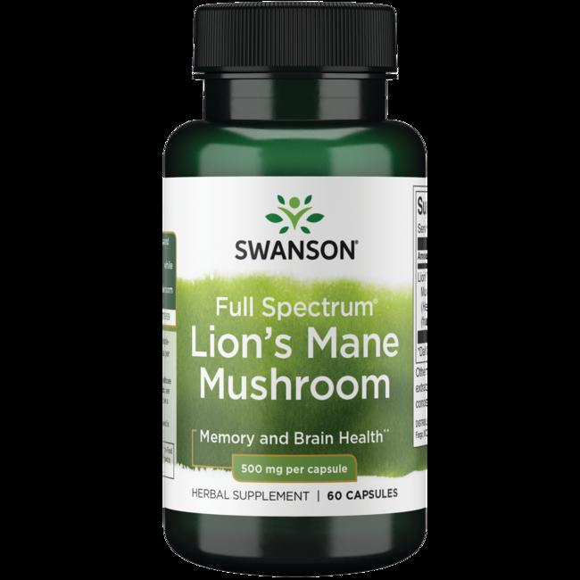 Swanson Premium Full Spectrum Lion's Mane Mushroom