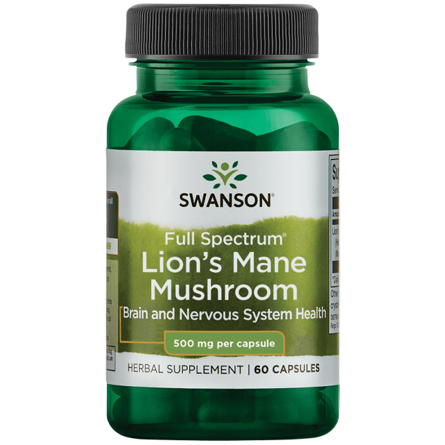 Swanson PremiumFull Spectrum Lion's Mane Mushroom