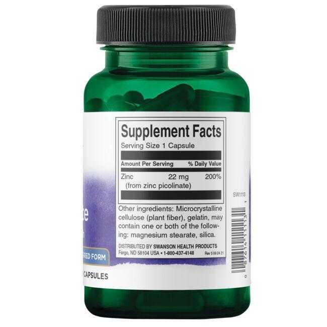 Swanson PremiumZinc Picolinate - Body Preferred Form Close Up