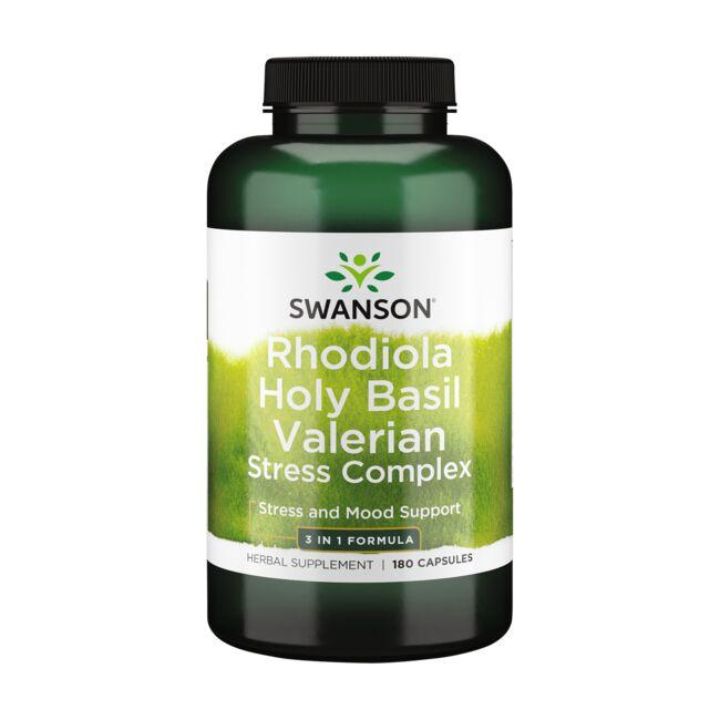 Swanson PremiumRhodiola Holy Basil Valerian Stress Complex