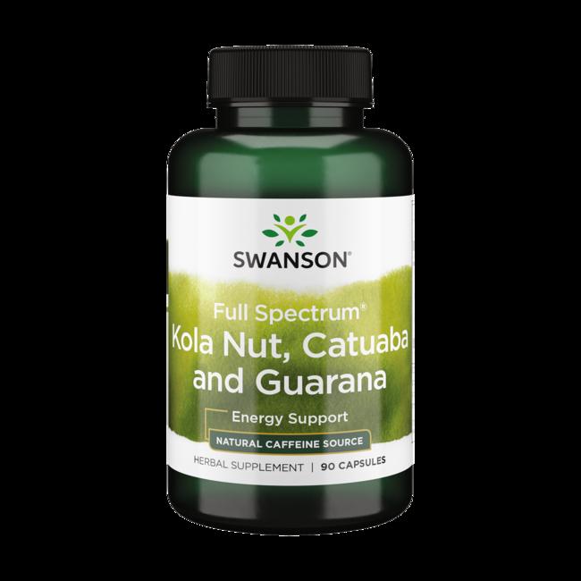 Swanson Premium Full-Spectrum Kola Nut, Catuaba, Guarana