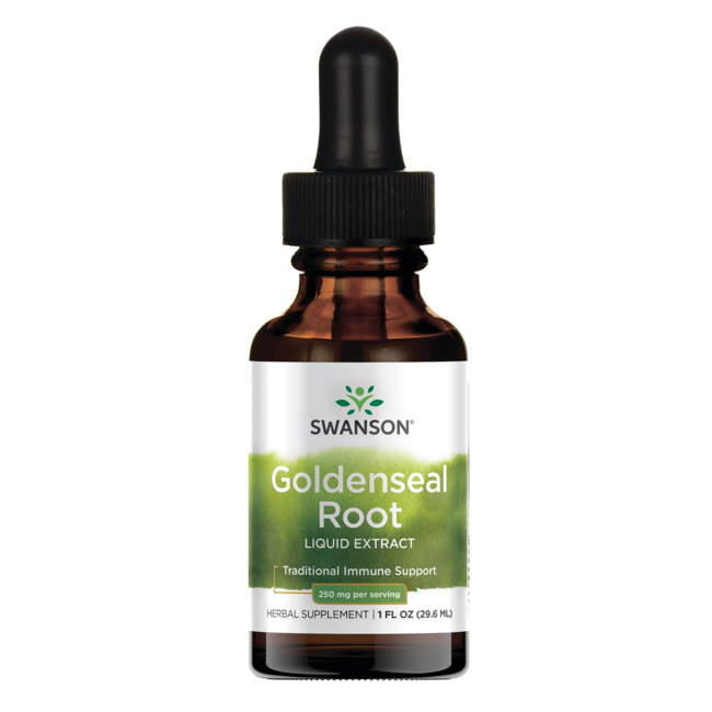 Swanson Premium Goldenseal Root Liquid Extract (Alcohol- & Sugar-Free)