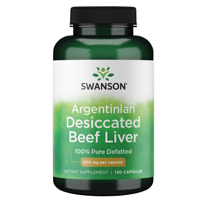 Swanson Premium 100% Pure Defatted Desiccated Beef Liver