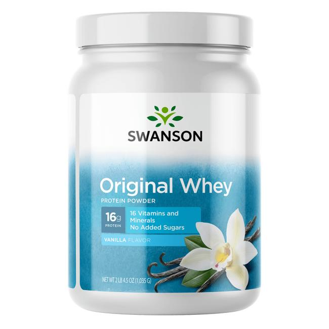 Swanson PremiumOriginal Whey Protein Powder w/Vitamins
