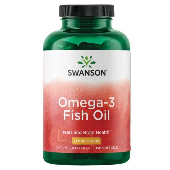 Swanson Premium Omega-3 Fish Oil - Lemon Flavor