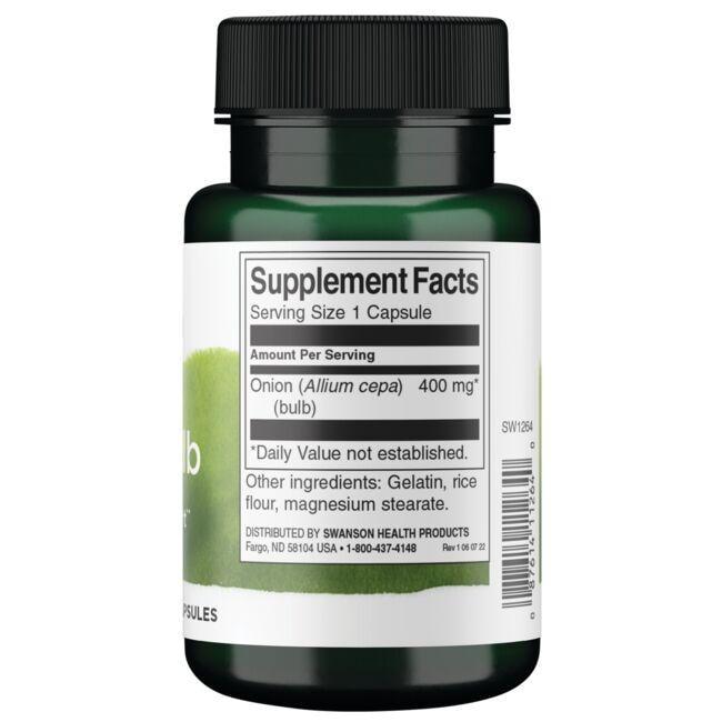 Swanson PremiumFull Spectrum Onion Bulb Close Up