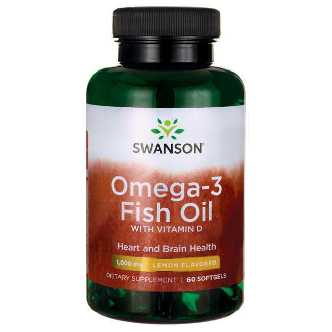 Omega 3 fish oil vitamin d supplement swanson health for Fish oil with vitamin d