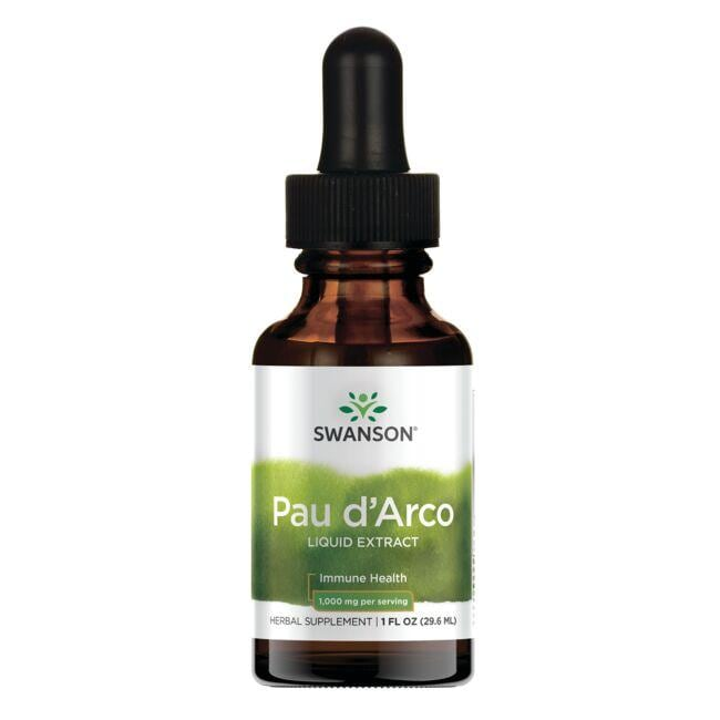Swanson PremiumPau D'Arco Bark Liquid Extract (Alcohol- & Sugar-Free)