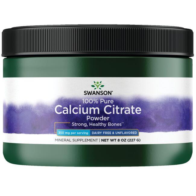 Swanson Premium100% Pure and Dairy-Free Calcium Citrate Powder