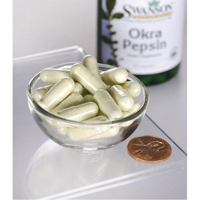 Swanson Premium Okra Pepsin Close Up