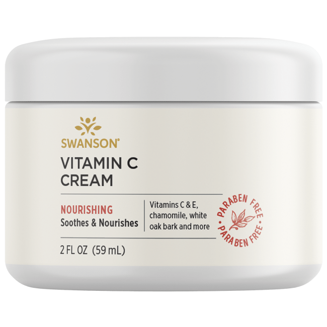Swanson Premium Vitamin C Cream, 98% Natural