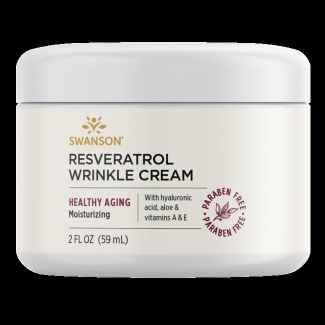 Swanson Premium Crema antiarrugas con resveratrol y ácido hialurónico