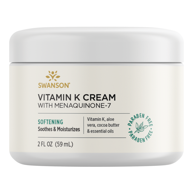 Swanson Premium Vitamin K Cream with Menaquinone-7, 97% Natural