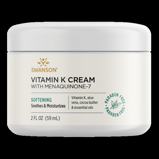 Swanson Premium Vitamin K Cream with Menaquinone-7, 97% Natural