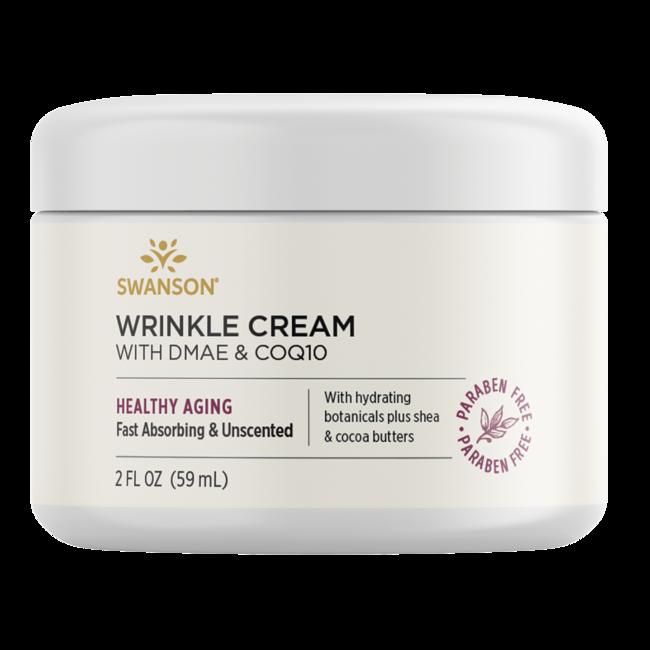Swanson Premium Wrinkle Cream With DMAE & CoQ10, 98% Natural