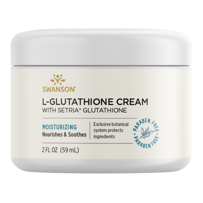 Swanson Premium L-Glutathione Cream with Setria, 95% Natural