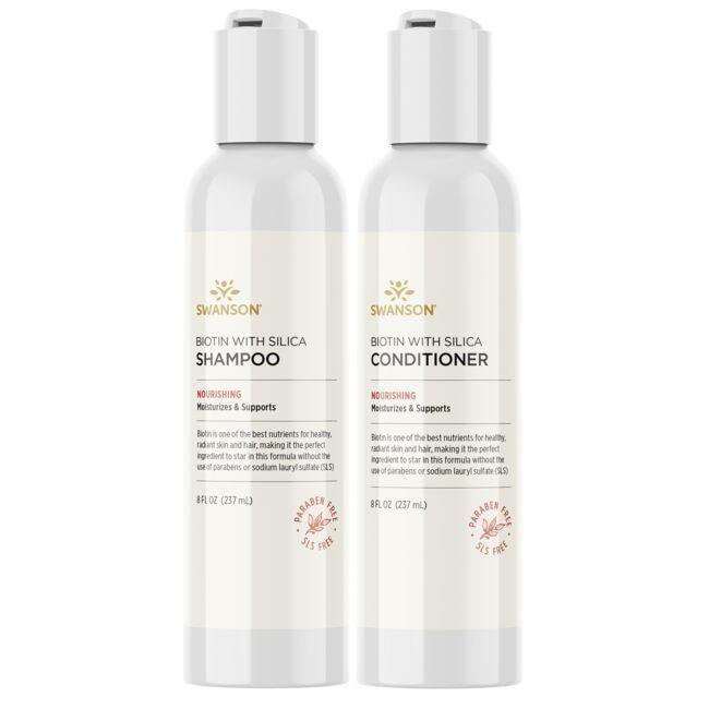 Swanson PremiumBiotin Shampoo & Conditioner with Silica Combo