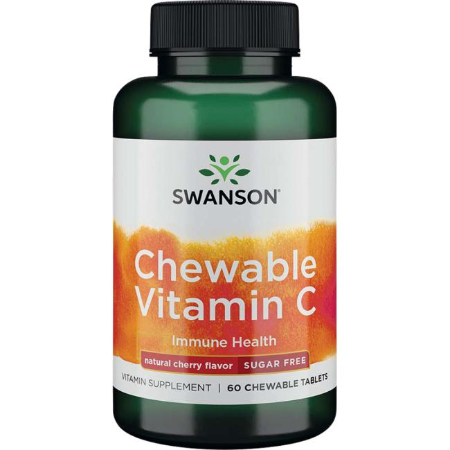 Swanson Premium Chewable Vitamin C - Natural Cherry Flavor Sugar-Free