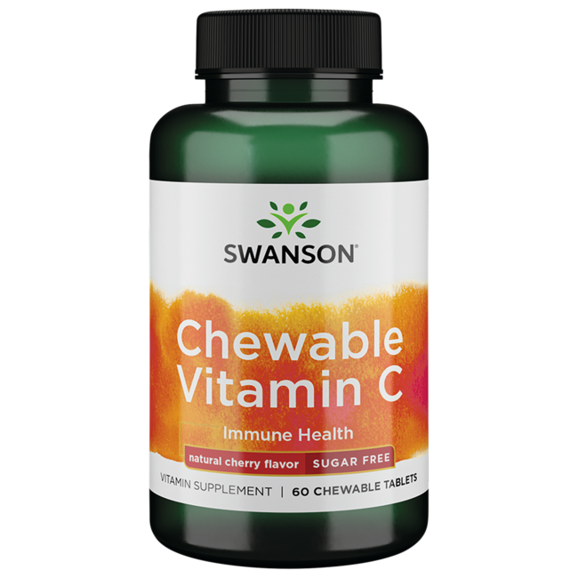 Swanson Premium Sugar-Free Chewable Vitamin C Cherry