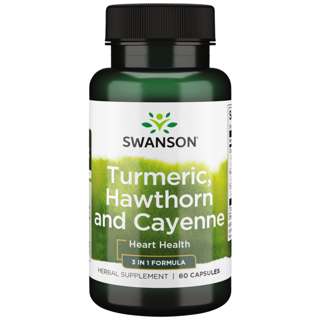 Swanson Premium Full Spectrum Turmeric, Hawthorn & Cayenne
