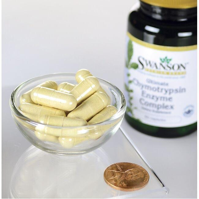 Swanson Premium Ultimate Chymotrypsin Enzyme Complex Close Up
