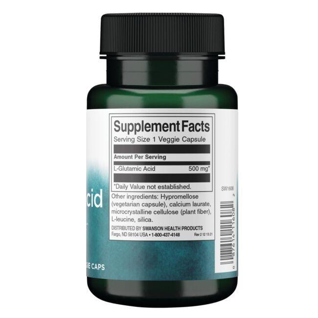 Swanson PremiumGlutamic Acid Close Up