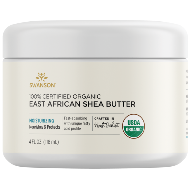 Swanson Premium100% Certified Organic East African Shea Butter