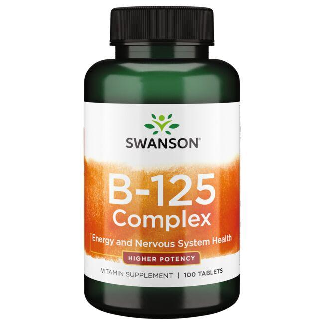 Swanson Premium Vitamin B-125 Complex - Higher Potency